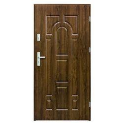 Drzwi zewnętrzne stalowe Splendoor Granit 80 prawe orzech