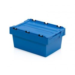 Skrzynka plastikowa z wiekiem, 600x400x290 mm