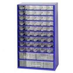 Metalowa szafka z szufladami, 48 szuflad