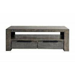 INVICTA stolik RTV IRON CRAFT 130 cm - szary mango, drewno naturalne, metal