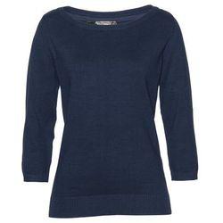 Sweter z asymetryczną linią dołu bonprix czarny