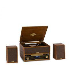 Auna Belle Epoque 1910 Wieża stereo w stylu retro gramofon odtwarzacz CD kolumny