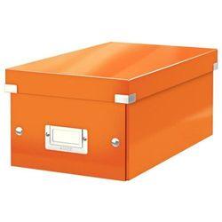 Pudło LEITZ C&S na DVD pomarańczowe