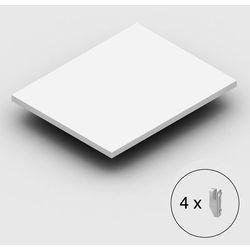 Dodatkowa półka, wraz ze wspornikami, pokrycie z tworzywa, jasnoszary, szer. x g