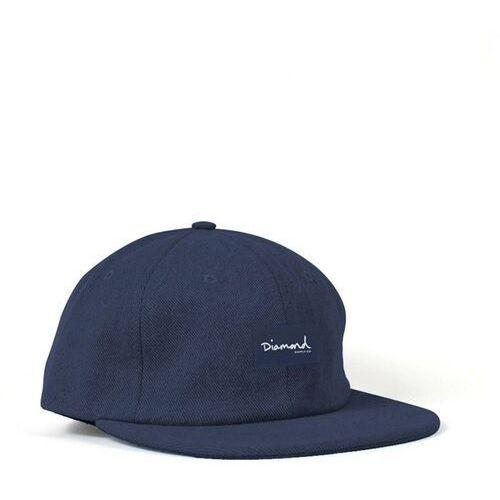 Nakrycia głowy i czapki, czapka z daszkiem DIAMOND - Og Script 6 Panel Hat - Sc Navy (NVY)