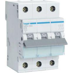 Hager MCB Wyłącznik nadprądowy Icn=6000A 3P C 32A MCN332E