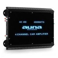 Wzmacniacze samochodowe, Auna 4-kanałowy wzmacniacz samochodowy 360W RMS 4000W max.Akryl