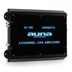 Auna 4-kanałowy wzmacniacz samochodowy 360W RMS 4000W max.Akryl