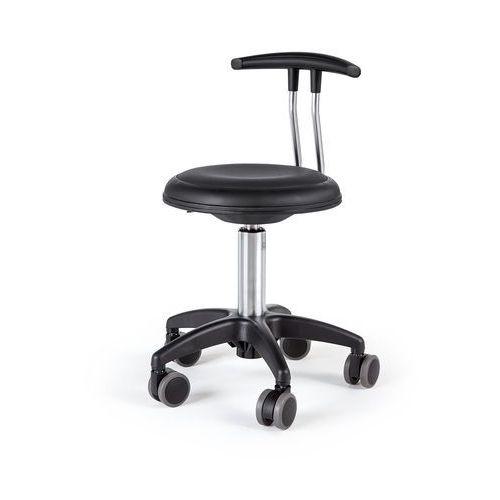 Pozostałe meble biurowe, Mobilny stołek STAR, 380-480 mm, czarny