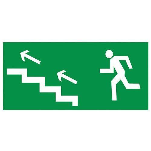 Oznakowanie informacyjne i ostrzegawcze, Znak Kierunek ewakuacji schodami w lewo w górę