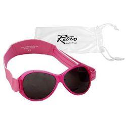 Okulary przeciwsłoneczne UV dzieci 2-5lat RETRO BANZ - Pink
