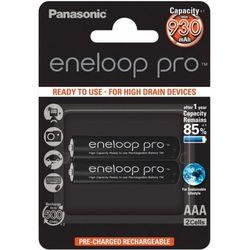 2 x akumulatorki Panasonic Eneloop PRO R03 AAA 950mAh BK-4HCDE/4BE (blister)