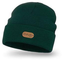Wygodna czapka dziecięca z przedłużeniem PaMaMi - Butelkowa zieleń - Butelkowa zieleń