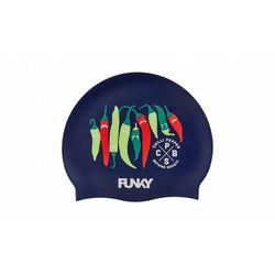 Funky Trunks Silicone Swimming Cap Men, czarny/kolorowy 2020 Czepki pływackie Przy złożeniu zamówienia do godziny 16 ( od Pon. do Pt., wszystkie metody płatności z wyjątkiem przelewu bankowego), wysyłka odbędzie się tego samego dnia.
