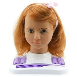 Teddies głowa do czesania duża, rude włosy