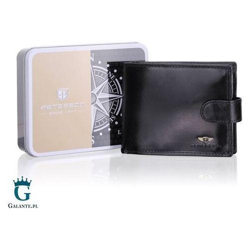 Portfele i portmonetki, Mały Portfel Męski z RFID i miejscem na dowód rejestracyjny PETERSON 306