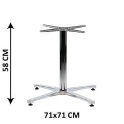Aluminiowa podstawa stolika SH-7700/L/A, (stelaż stolika)
