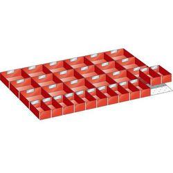 Wkładana skrzynka z tworzywa, do wym. szafy 1023x725 mm, do szuflad o wys. 100 m
