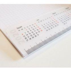 Biuwar 2020, kalendarz na biurko z notesem 48x33cm z plastikową listwą