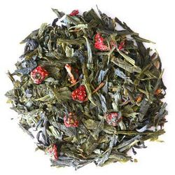 Herbata zielona o smaku truskawki w śmietanie