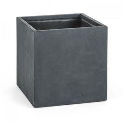 Blumfeldt Solidflor Doniczka/pojemnik na rośliny 50x50x50 cm Fiberton antracyt