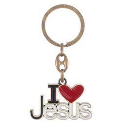 Brelok z napisem I love Jesus