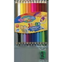 Kredki, Kredki ołówkowe Colorino okrągłe dwustronne 12 sztuk/24 kolory - Patio