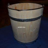 Pozostałe akcesoria i przyrządy kuchenne, Naczynie klepkowane, Wiaderko drewniane poj. 10 l