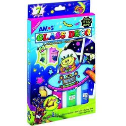 Farby witrażowe Glass Deco 7 kolorów blister AMOS