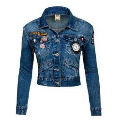 Kurtka jeansowa damska granatowa Denley 5164