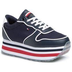 Sneakersy TOMMY HILFIGER - Piped Flatform Sneaker FW0FW04702 Desert Sky DW5