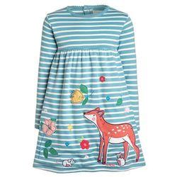 JoJo Maman Bébé DEER DRESS STRIPE Sukienka z dżerseju duck egg/cream stripe