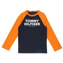 TOMMY HILFIGER Koszulka 'COLOR BLOCK RAGLAN TEE L/S' ciemny niebieski / pomarańczowy
