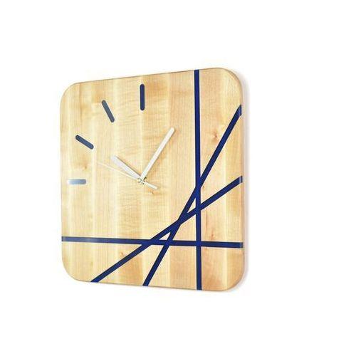 Zegary, Epoxy Clock - Lines - Zegar ścienny z żywicą