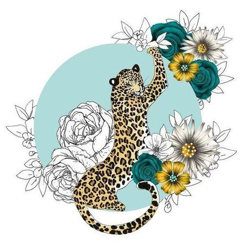 Pozostałe artykuły szkolne, Karnet Swarovski kwadrat CL1424 Gepard kwiaty