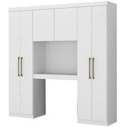 Zabudowa ANTERO – 6 par drzwi – Zawiera szafy i miejsce do przechowywania – Dł. 200 cm – Kolor biały
