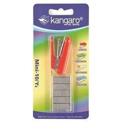 Zszywacz KANGARO Mini-10/Y2+zszywki, zszywa do 10 kartek, blister, czerwony