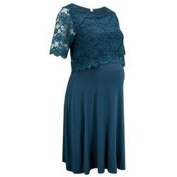 Sukienka ciążowa i do karmienia na uroczyste okazje bonprix ciemnoniebieski