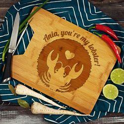You're my lobster! - deska do krojenia z grawerem - Deska bambusowa