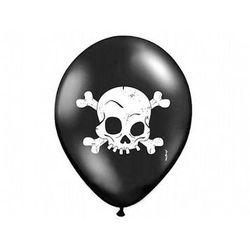 Balony czarne - Czaszka - 37 cm - 5 szt.