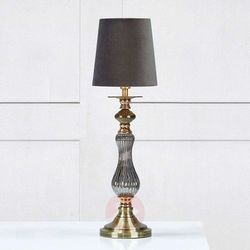 Klasyczna LAMPA stołowa HERITAGE 106989 Markslojd biurkowa LAMPKA abażurowa szary