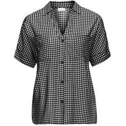 """Koszula """"boxy"""" bonprix czarno-biały w kratę"""