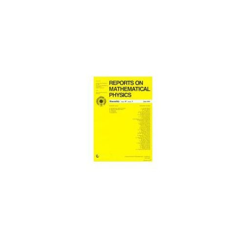 Gazety i czasopisma, Reports on Mathematical Physics 67/3 (opr. miękka)