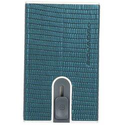 Piquadro Black Square Etui na karty RFID skórzana 6 cm metalized teal ZAPISZ SIĘ DO NASZEGO NEWSLETTERA, A OTRZYMASZ VOUCHER Z 15% ZNIŻKĄ