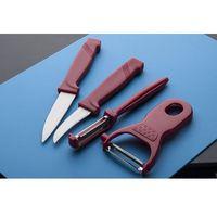 Noże kuchenne, SSW Obieraki i noże kuchenne zestaw 4 sztuk - mix kolorów