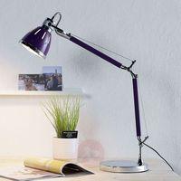 Lampy stołowe, Stojąca LAMPA stołowa JERONA 7050114 Spotlight regulowana LAMPKA biurkowa fioletowa