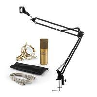 Mikrofony, Auna MIC-900G USB zestaw V3 mikrofon pojemnościowy ramię sterujące nerka złoty
