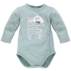 PINOKIO kopertowe body dziecięce Happy Llama 56 zielone - BEZPŁATNY ODBIÓR: WROCŁAW!