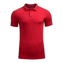 OUTHORN Koszulka męska polo TSM602 Czerwona - Czerwony