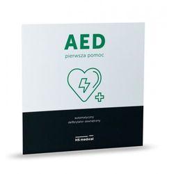 Tablica informacyjna AED DUŻA